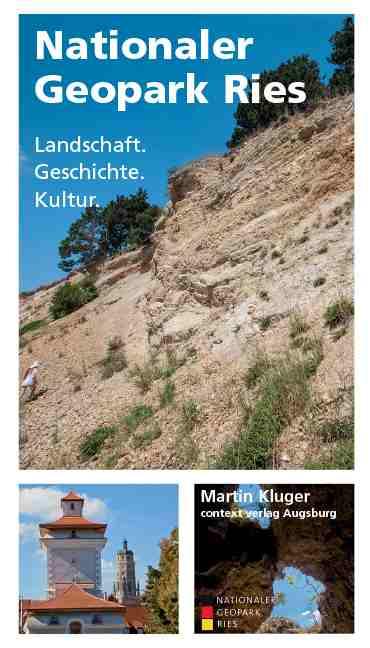 """Buchcover """"Nationaler Geopark Ries"""" von Martin Kluger"""